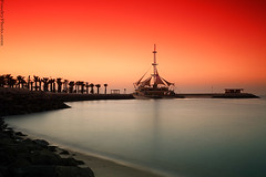 marina Waves (A.alFoudry) Tags: sunset orange marina canon waves 5d kuwait q8 abdullah 1740l    kuw  xnuzha alfoudry  abdullahalfoudry colorphotoaward 5d365 foudryphotocom kuwaitvoluntaryworkcenter