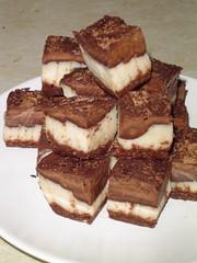 raw chocolate cream squares