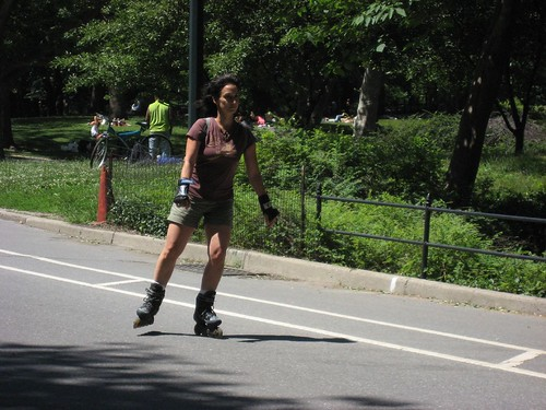 Rollerblading.. or more correctly inline skating in Central Park