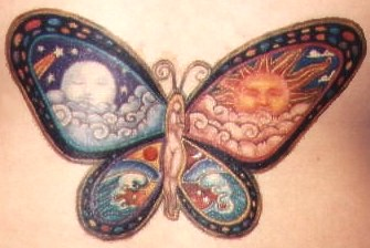 Fairy tattoo in Butterfly design