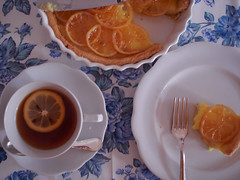 torta e chá