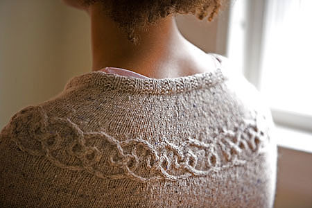 Close-Up of Eunny Jang Tangled Yoke Cardigan
