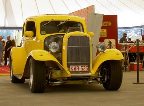Yellow custom car