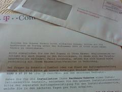 Brief von der Telekom