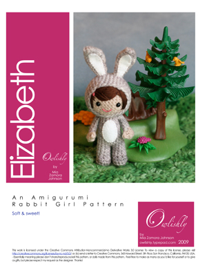 Elizabeth the rabbit amigurumi pattern page 1