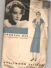 hollywood dress 533 (carbonated) Tags: vintage 1930s pattern dress sewing hollywood francesdee