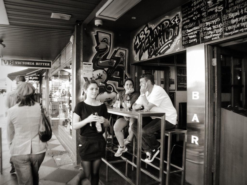 Street Photography: Acland Street Cafe