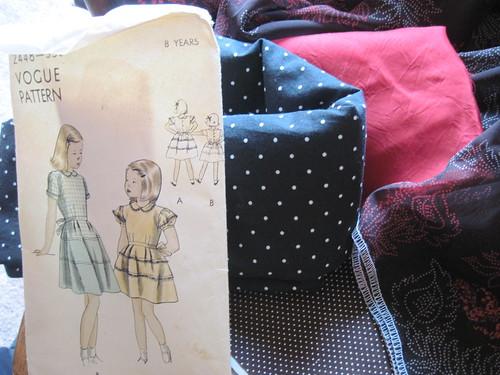 Vogue Tiered Dress, Fabrics