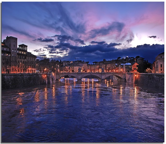 Blue hour in Rome