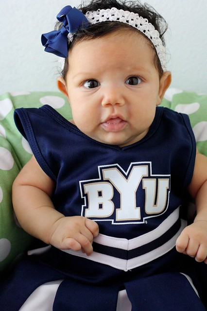 byu baby cheerleader