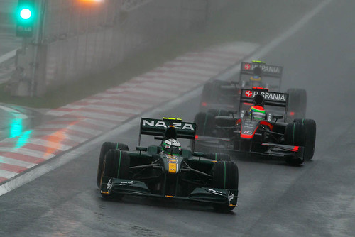 Heikki battles on track