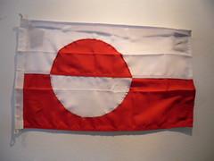 kangerlussuaq - greenlandic flag (Vida Morkunas (seawallrunner)) Tags: travel cruise greenland hurtigruten cwall kangerlussuaq westgreenland july2010 vestgronland westerngreenland ataleoftwoicelands returntoeurope
