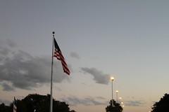 American Flag Space Coast Sunset