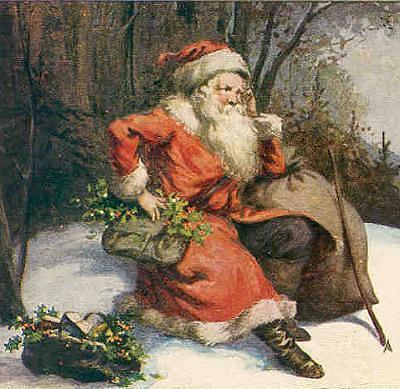Vintage santa 1900 6