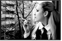 .it.is.a.starless.winter.night's.tale. (.nancy.long.ago.) Tags: portrait blackandwhite woman cigarette 123bw