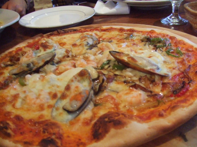 pizza with shells