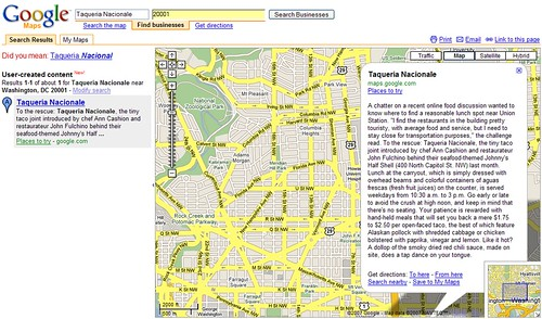 Google maps as a notepad
