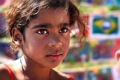 Provoking beauty... (carf) Tags: poverty girls brazil amanda art girl brasil kids painting children hope kid community education paint child hummingbird arts cultur