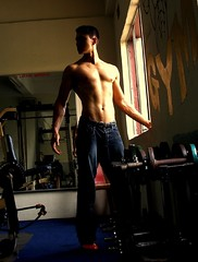 My Bapuk Gym (dinesh_75000) Tags: sunset man body muscle veins gym johor dinesh pondan dungu bapuks