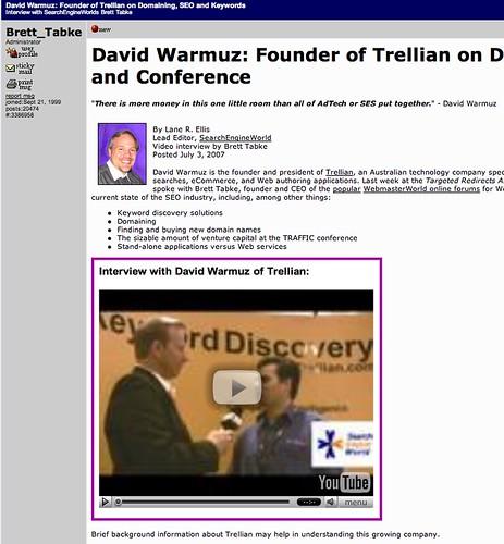 WebmasterWorld Video Embed