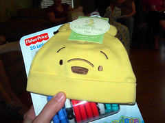 Pooh hat (cml5arf) Tags: holly pooh babyshower 2007