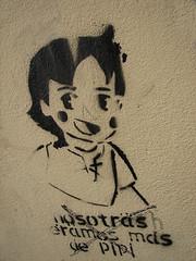pipi or heidi u choose (_tonidelong) Tags: urban streetart art heidi graffiti spain stencil arte andalucia granada graffitti pintada pipi callejero