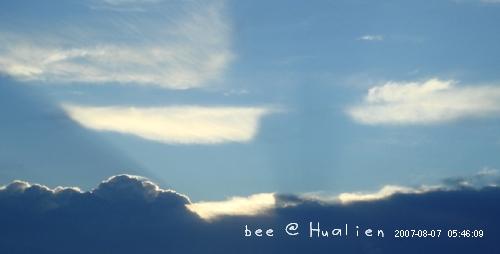花蓮石梯坪海邊的日出---颱風來前的寧靜 (7)