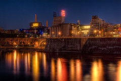 Minneapolis Riverfront (Greg Benz Photography) Tags: photoshop photography benz nikon hdr guthrietheater stonearchbridge photomatix millcitymuseummississippirivermississippihdr carbonsilver gregbenz gbenz