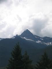 Pyramid Peak (Ryan Hadley) Tags: trees usa mountains nature clouds forest landscape washington nationalpark cascades northcascades cascademountains northcascadesnationalpark pyramidpeak awesomenature diablolakeoverlook rosslakenationalrecreationarea