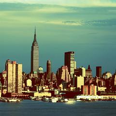 retro city (solecism) Tags: nyc newyorkcity skyline manhattan empirestatebuilding thenewyorker fakecrossprocess seethecityisntallblackandwhite