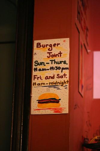 Burger Joint signage