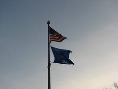 Genoa City, Wisconsin - Flags at Genoa City Welcome Centre (Darrell Harden) Tags: wisconsin flag wb westbound restarea us12 welcomecenter highway12 genoacity welcomecentre