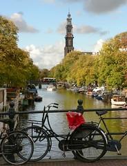 westerkerk1 (alandaulby) Tags: amsterdam bicycle canal westerkerk