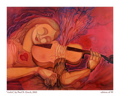 Viloin (Paul N Grech) Tags: musician music woman art painting energy surreal kinetic violin oil violinist cubist futurist lyrical paulgrech