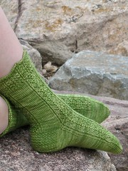 Siren Socks on the Rocks, Cropped
