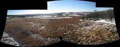 Albany Mounds December 2008, 3 images Panorama (rjoe_brandon) Tags: archaeology kap hopewell albanymounds