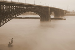 Eads Bridge, St. Louis, Missouri, USA (sepia) (Cindy) Tags: goldstaraward
