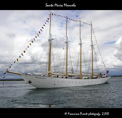Santa Maria Manuela (puentef) Tags: portugal boat mar ship olympus schooner navegar e30 aveiro goleta velero lugre santamariamanuela