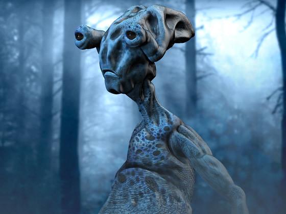alien en 3D