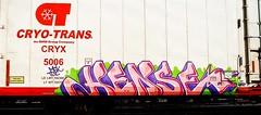 Hense (mightyquinninwky) Tags: railroad art train bench graffiti tag graf tracks ct railway tags tagged railcar graffitti rails graff graphiti trainyard reefer hense trainart rollingstock paintedtrain freightyard railart spraypaintart cryx ohiorivervalley movingart benched benching taggedtrain cryotrans rollingart mightyquinninwky mightyquinninlex paintedreefer reeferart paintedrailcar taggedreefer taggedrailcar artbombs