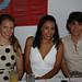 Stacey Collett de Domínguez, Itzel Figueroa y Adriana López.