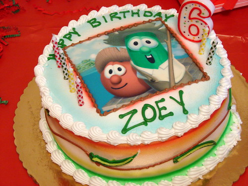 Zoey's 6th Year Birthday Cake