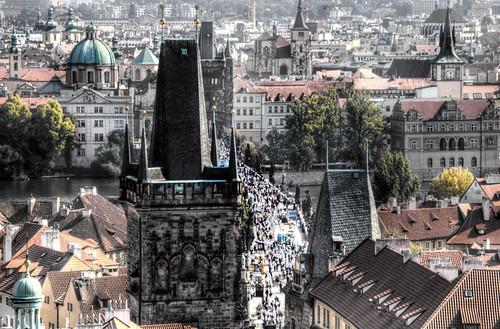 Mala Strana tower. Prague. Torre de Mala Strana. Praga