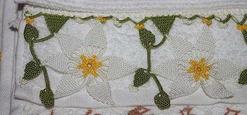 papatya havlu kenarı