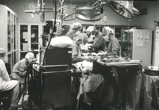 Unidentified persons in operating room