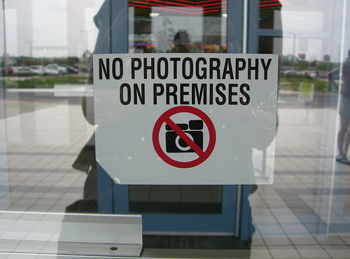 No photography on premises