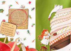 Feltrinelli Kids - III - Princess on the pea obsessed by vegetables! (*silviaStella) Tags: kids illustration project graphics silvia catalogue degree catalogo feltrinelli osella silviastella