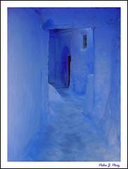 El Azul de Chaouen (Marruecos) (Pedro J. Prez) Tags: blue colour azul morocco maroc marruecos chefchaoen chaoen flickrphotoaward fiveflickrfavs
