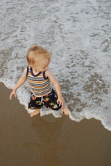Wave dancer (AndrewCline) Tags: boy summer beach children sand waves child newhampshire hamptonbeach todder