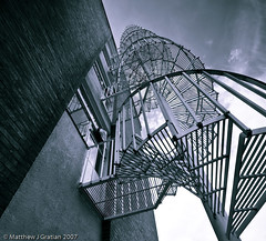 Spiral - Reworked Again (mgrat) Tags: stairs spiral wideangle fireescape